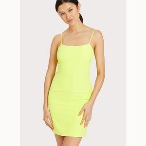 MILLY Cady Mini Slip Dress foy limeade